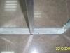 Металлический каркас из профилей для перегородки из гипсокартона