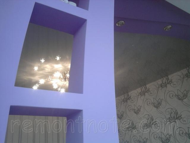 Декоративные полки и ниши из гипсокартона фото